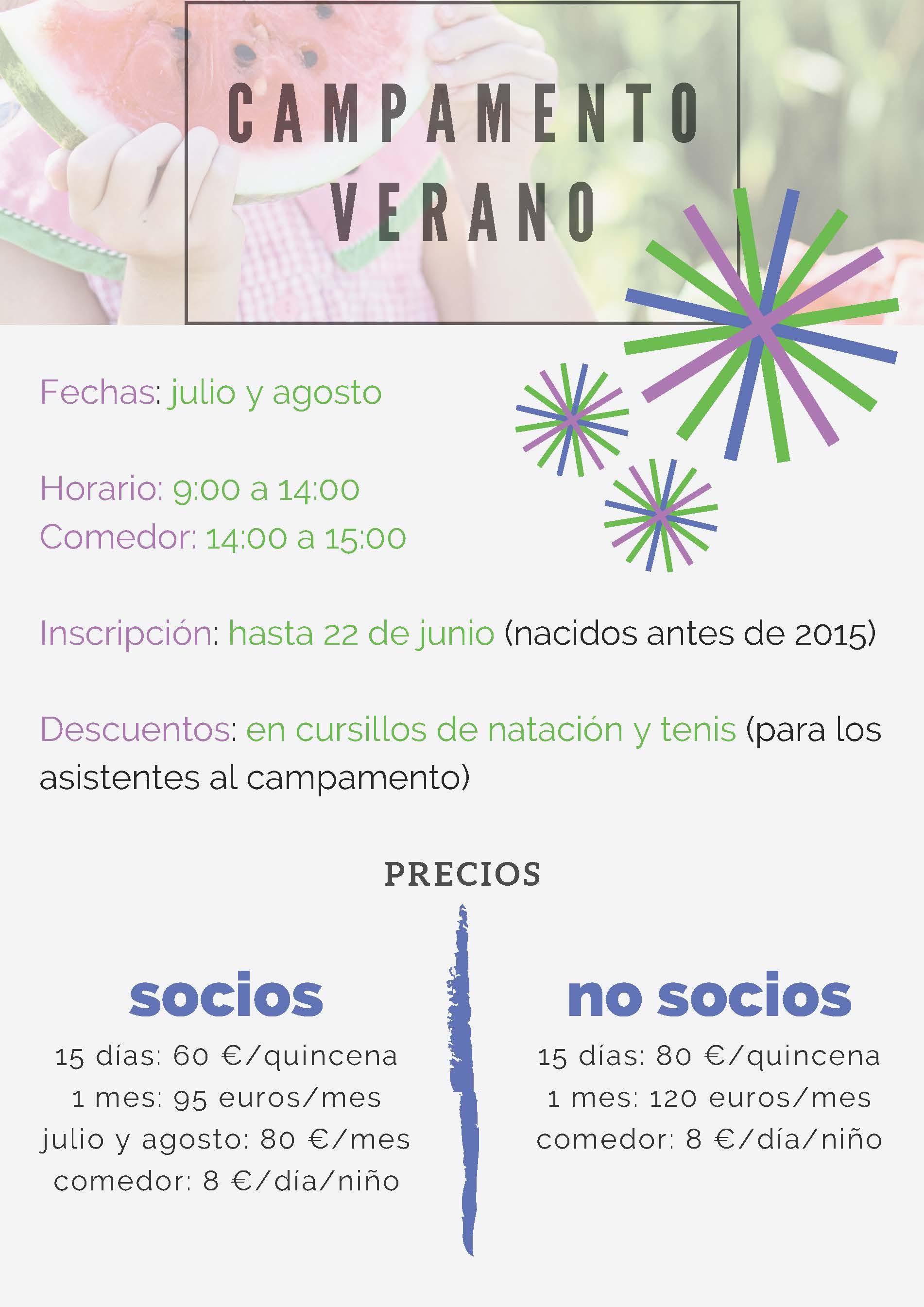 CAMPAMENTO DE VERANO JULIO Y AGOSTO 2019