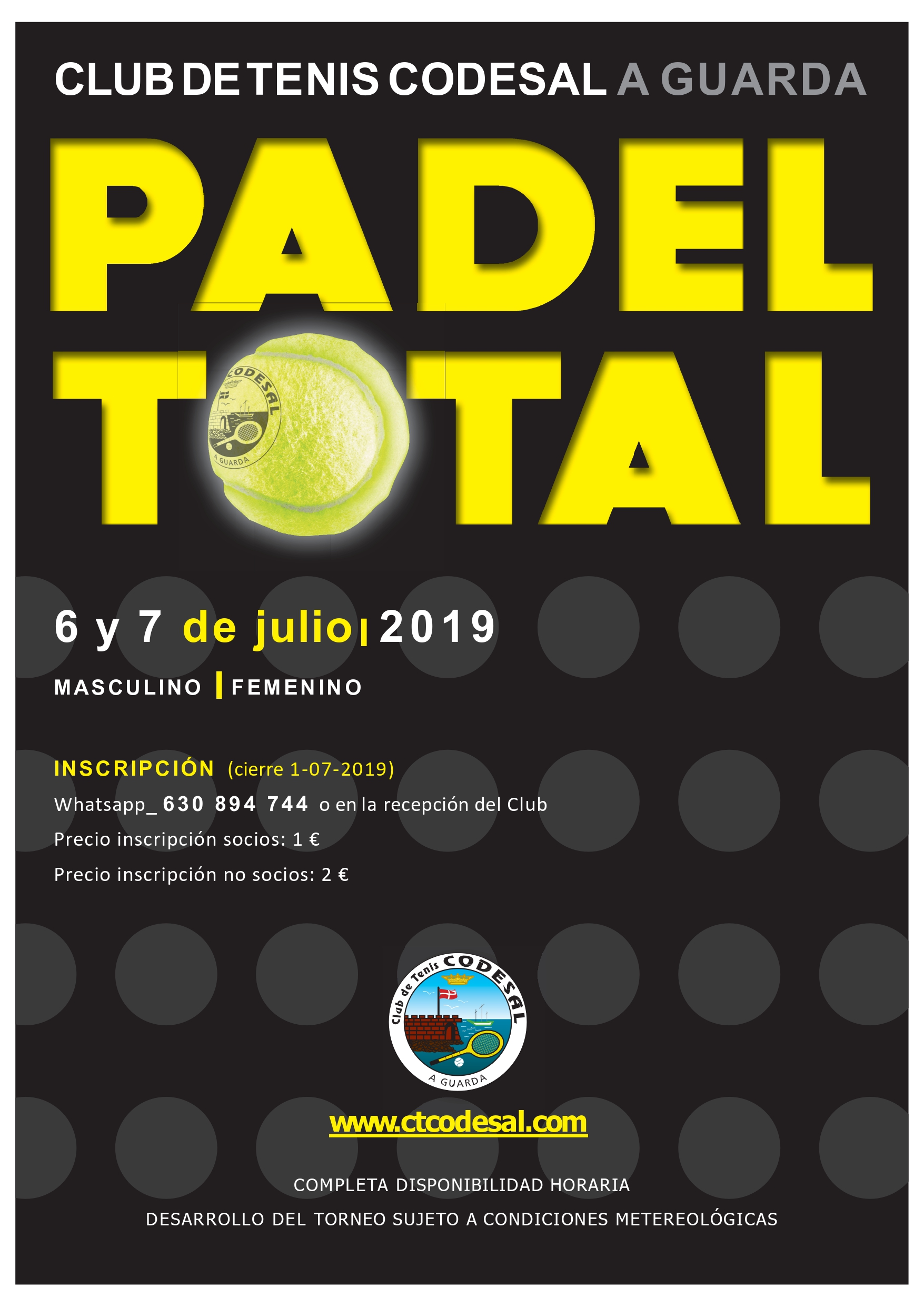 PADEL TOTAL 6 Y 7 DE JULIO 2019