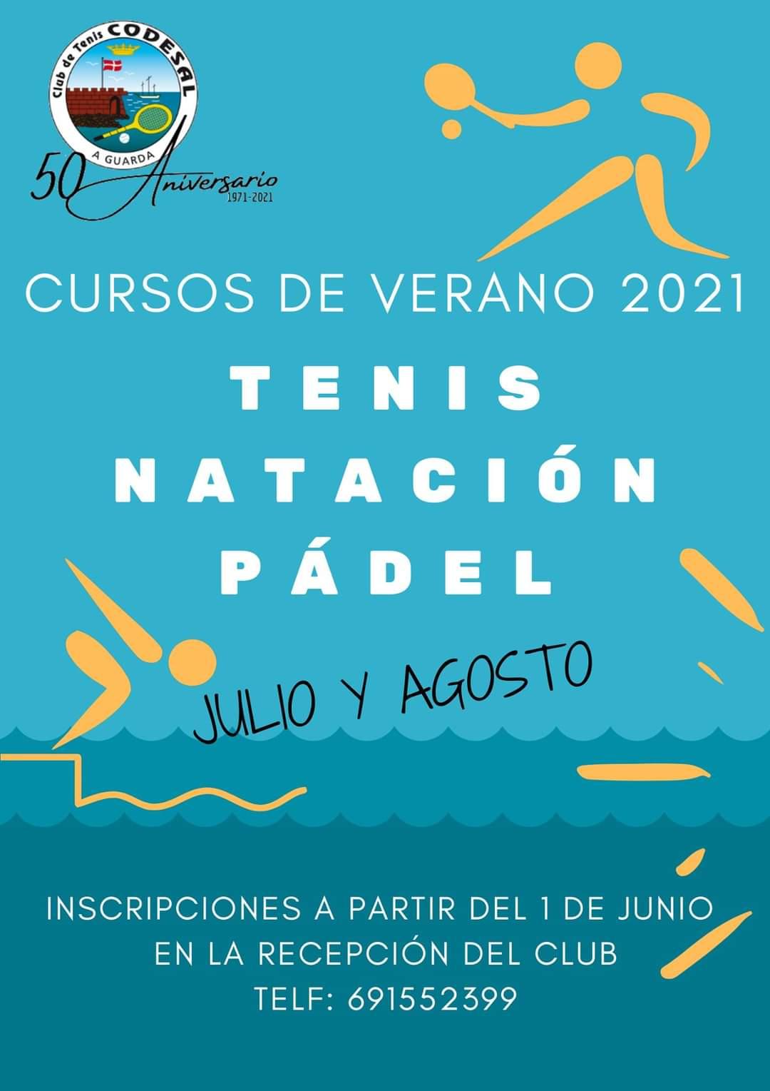 Cursos de verano 2021 de Tenis, Natación y Pádel