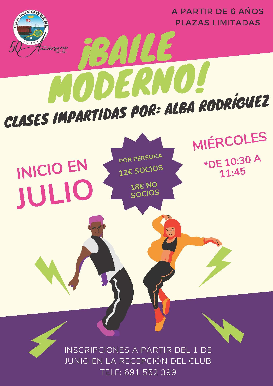 Clases de Baile Moderno a partir de 6 años con plazas limitadas