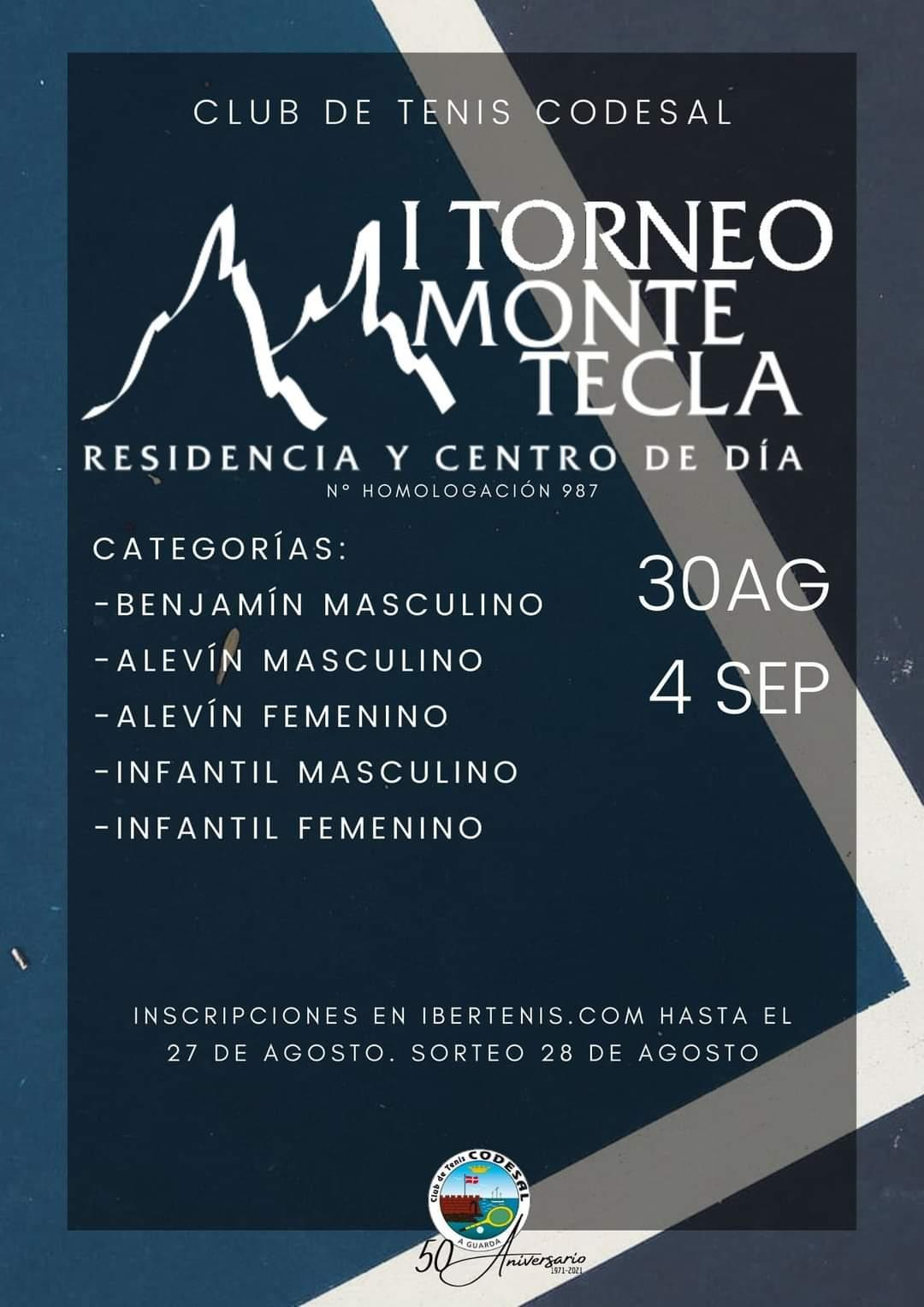 I Torneo Monte Tecla del 30 de agosto al 4 de 3 septiembre 2021
