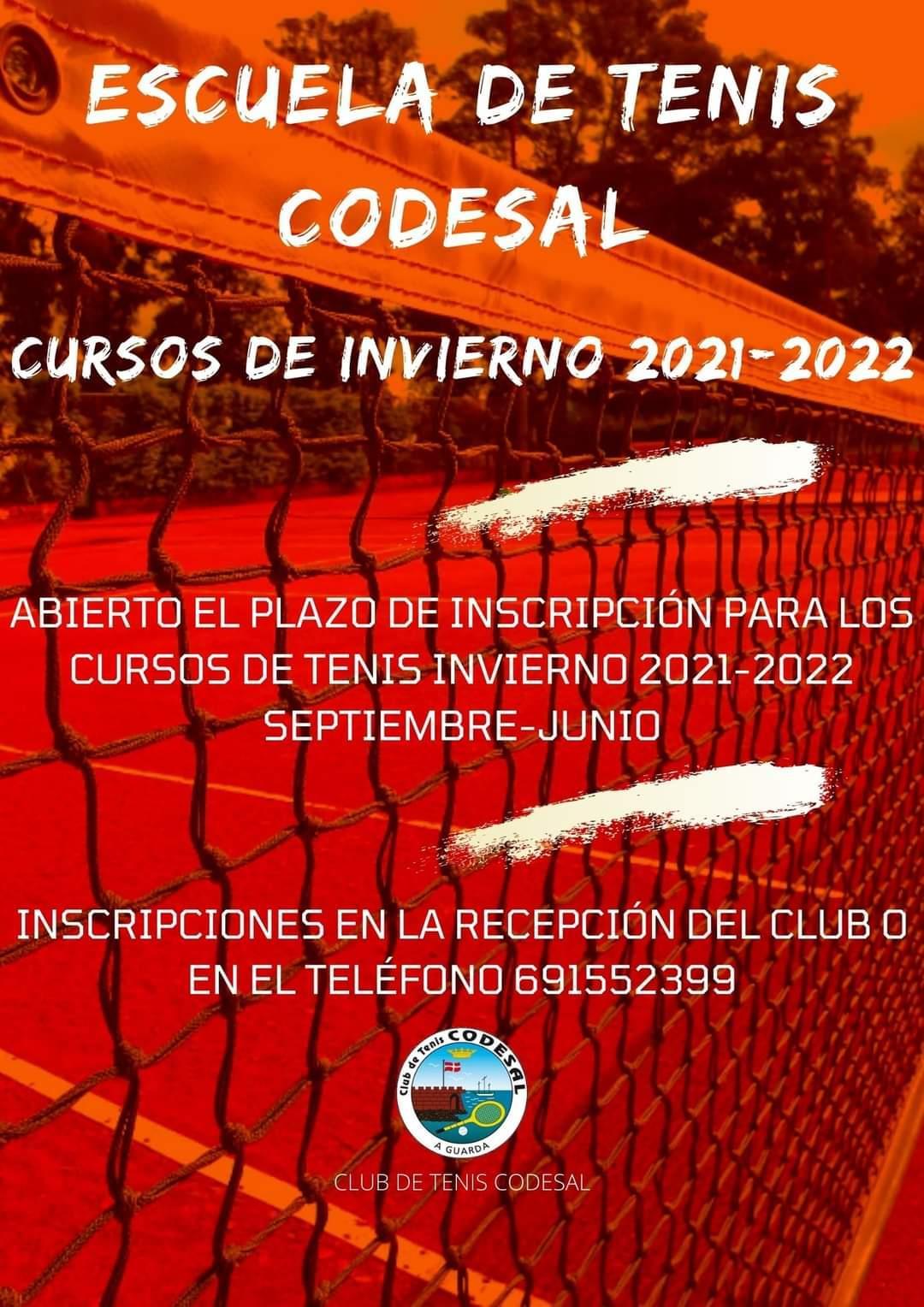 Cursos de invierno 2021 – 2022 Escuela de Tenis Codesal