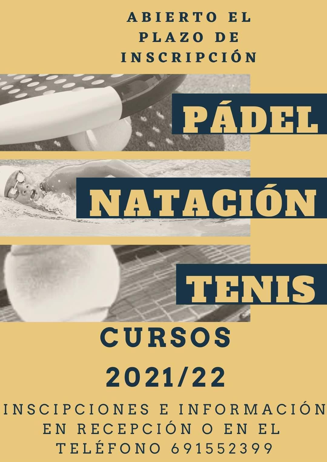 Abierto el plazo de inscripción para los Cursos 2021-2022 Padel, Natación y Tenis